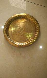 Antique Brass Plate pinggan tembaga