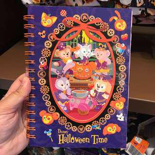PO HK Disneyland Duffy and friends Halloween design notebook