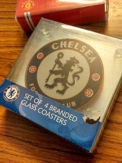 Chelsea FC Branded UK Glass Coaster Original