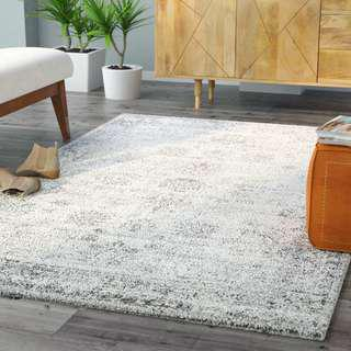 Ivory Silver Area Rug