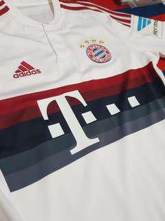 f93e8e726 Bayern Munich 15 16 away kit. With Gotze printing and Bundelisga Hermes  patch