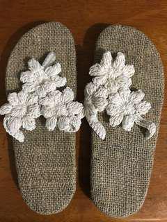 Beach crochet sandals