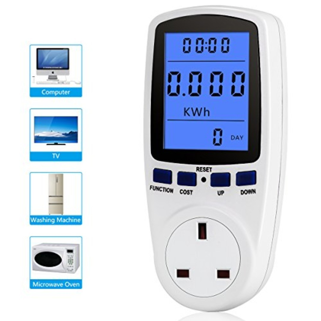428 Youthink Electricity Usage Monitor Power Meter Plug Home Energy Watt  Volt Amps