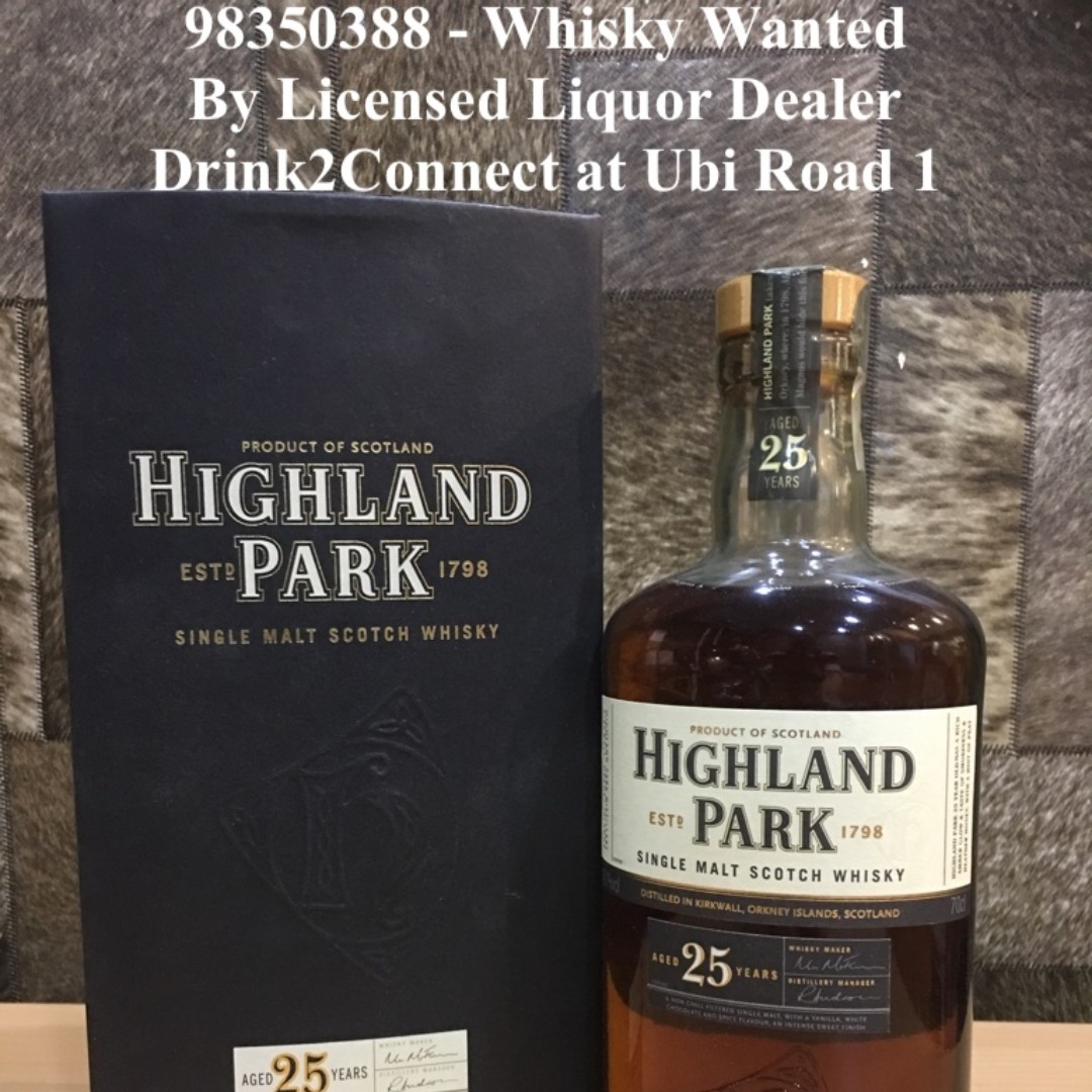 98350388 - Highland Park 25yrs Whisky Wanted By Drink2Connect