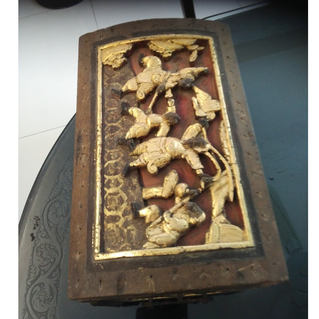 Antique wooden carving box vintage & collectibles vintage