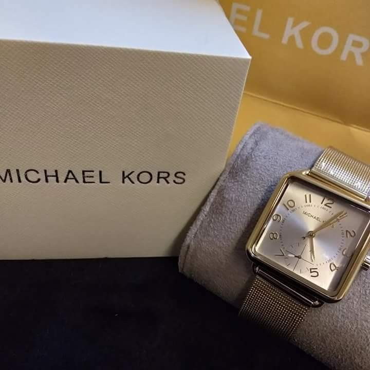 308bee110564 Authentic Michael Kors Brenner Square Band Watch
