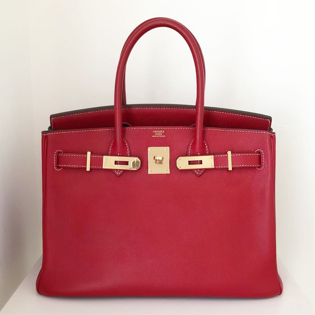 337e87e0505 Authentic Preloved Hermes Birkin 30 Candy Rouge Casaque Blue ...
