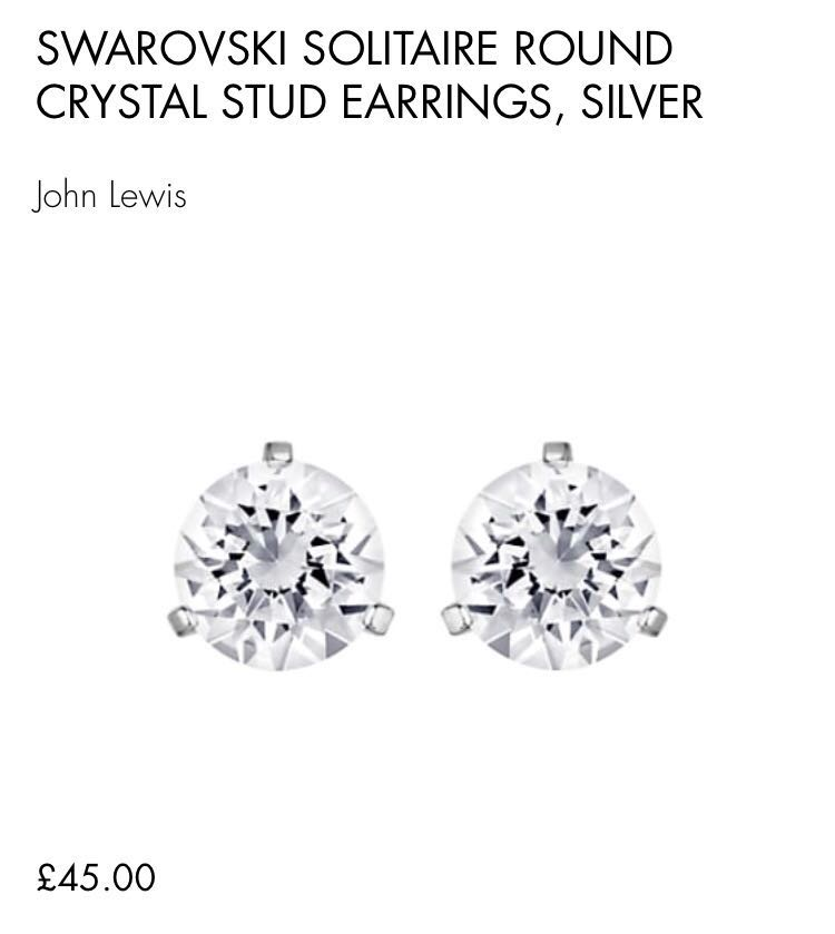 9df1020ef Authentic Swarovski Solitaire Round Crystal Stud Earrings, Silver ...