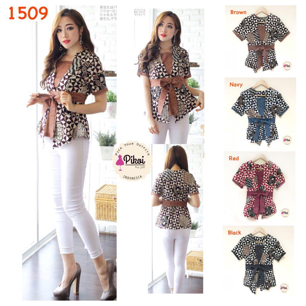 Blouse Kimono Batik Baju Batik Modern Atasan Batik Wanita
