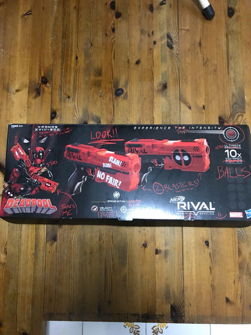 (Box only ) deadpool nerf rival gun