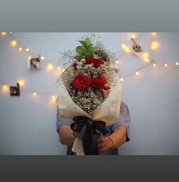 Buket Bunga Edelweis Desain Kerajinan Tangan Barang Aksesoris Kerajinan Di Carousell