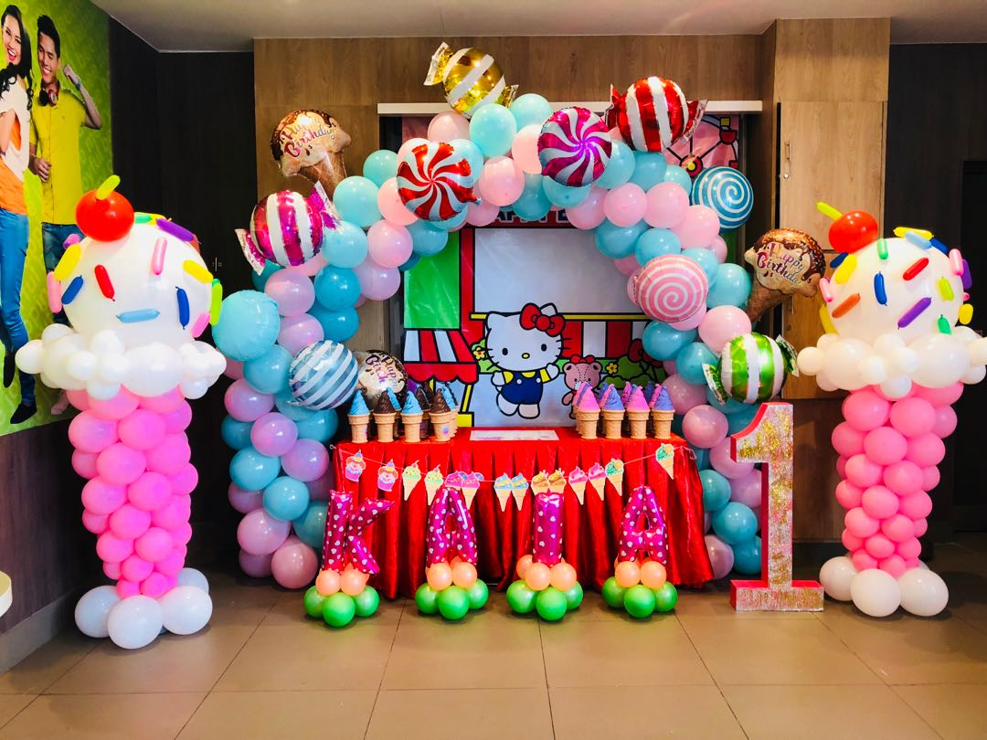 Candyland Balloon Decors With Photobooth Design Amp Craft