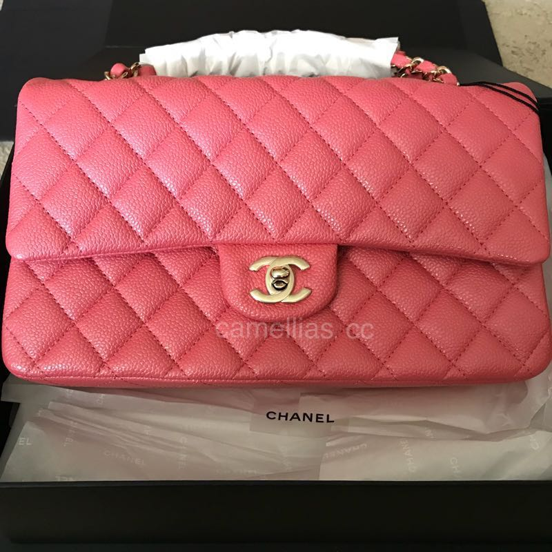b36e161a9713 Chanel 18S Pearly Pink Medium/Large Classic Flap, Luxury, Bags ...