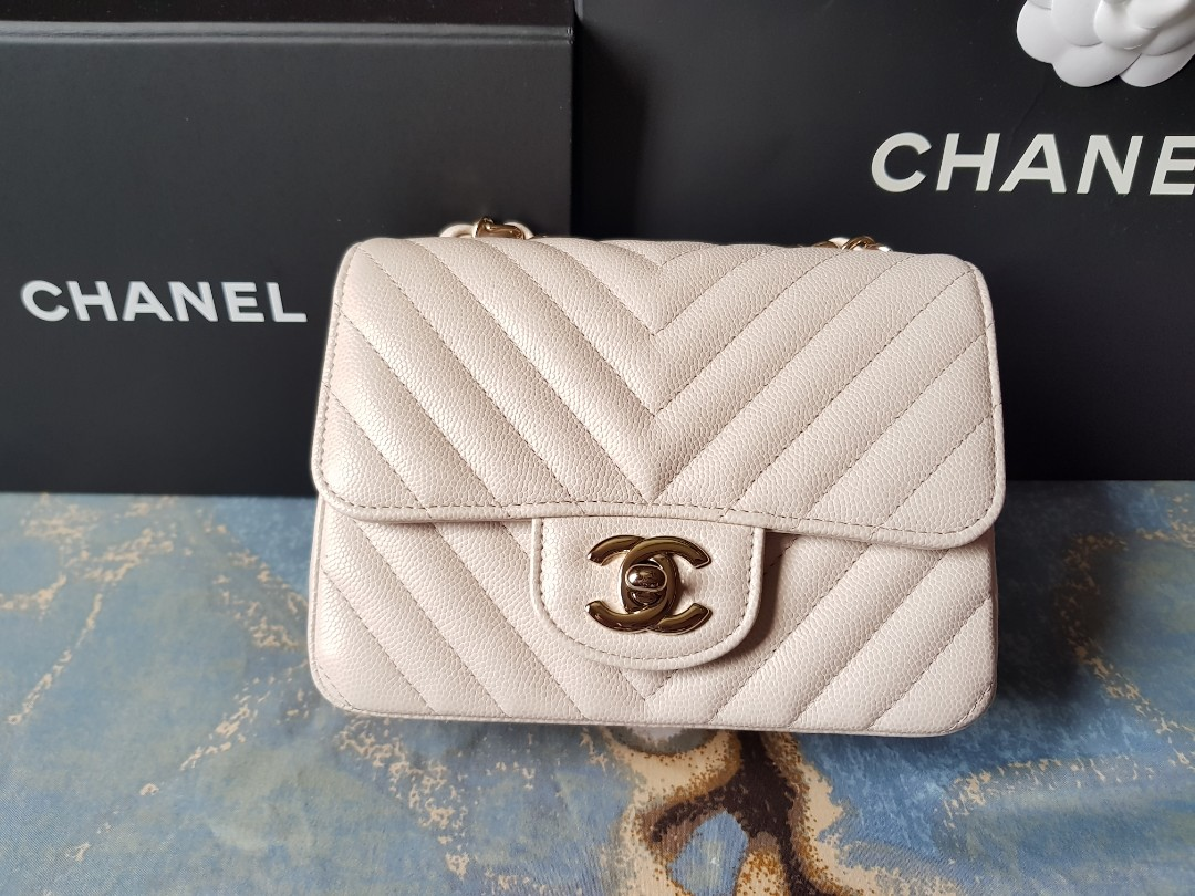 2436ec19df83 Chanel Mini Square, Luxury, Bags & Wallets, Sling Bags on Carousell