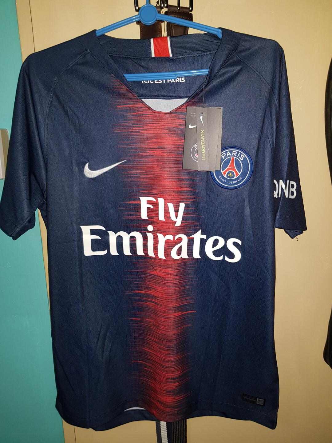 hot sales 8cb06 51b4f CHEAP NIKE PSG HOME JERSEY 18/19 NEYMAR NAME AND NUMBER ...