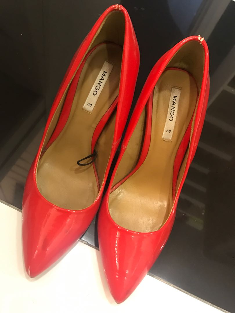 65ae104fb8a Chilli Red Mango Heels, Women's Fashion, Shoes, Heels on Carousell