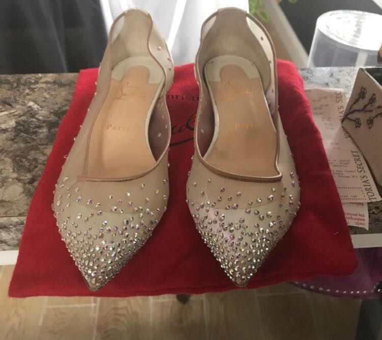 049f5cc6725 Christian Louboutin Follies Strass flat
