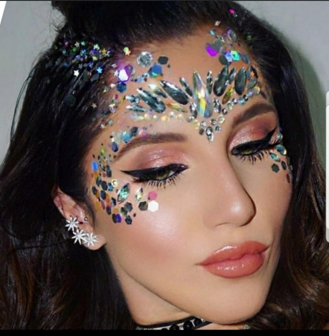 68bdd140aff38 Face Gem Jewel Crystal Eyes Sticker Tattoo Diamond Glitter Makeup ...