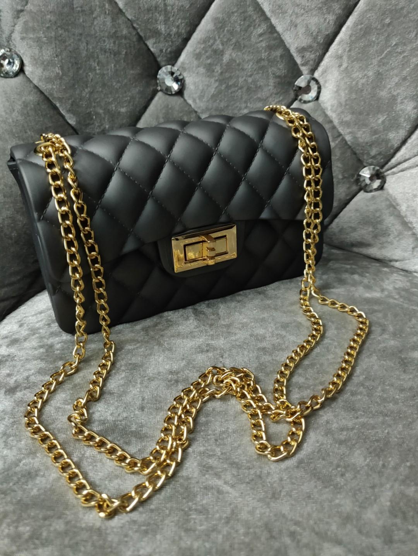 43630b3f07c Gun powder silver colored jelly hand bag (tote, purse, clutch, cross ...