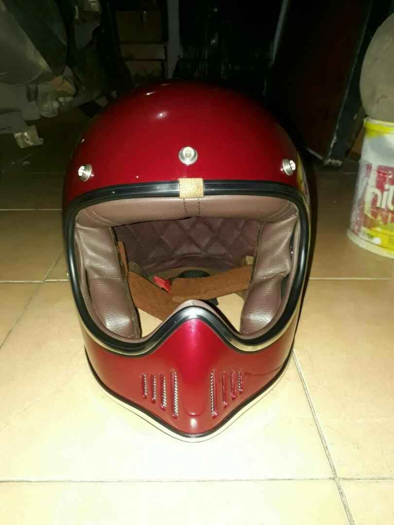 Helm Boulter Size M Motor Di Carousell Cakil Hbc Rust Dust Hitam Doff Emas