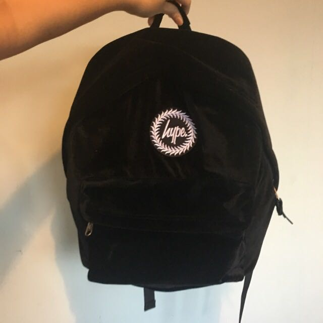 ac10ed39c3 Hype black velvet backpack