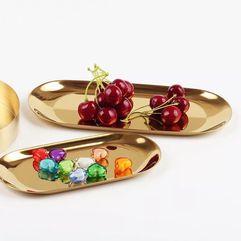 [INSTOCK] Gold / Silver / Rainbow plated tray