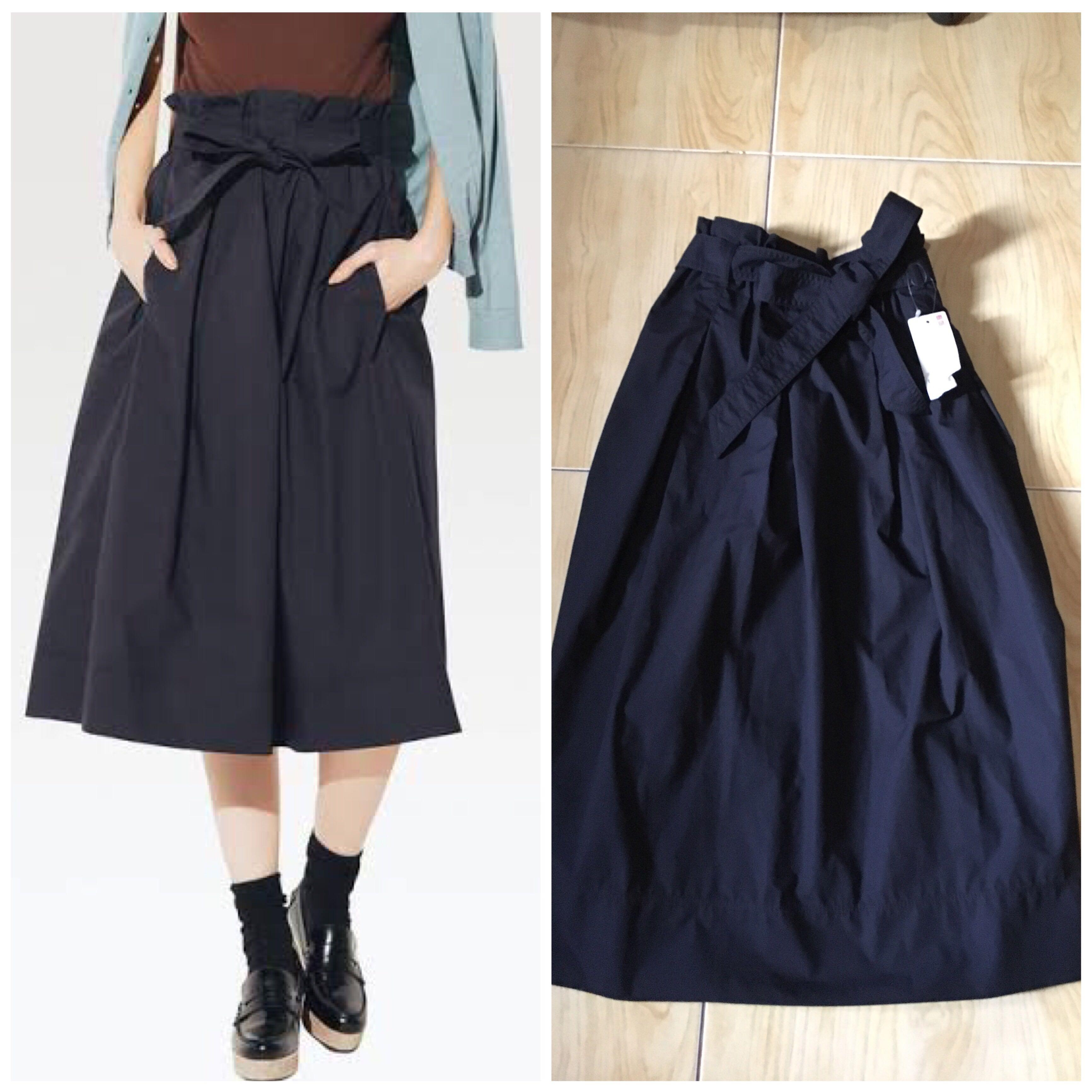 1d7e55754c jual rugi uniqlo belted flare midi skirt navy, Olshop Fashion ...