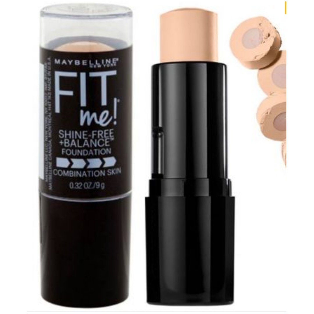 Maybelline Fit Me Shine Free Balance Stick Foundation Health Beauty Makeup On Carousell