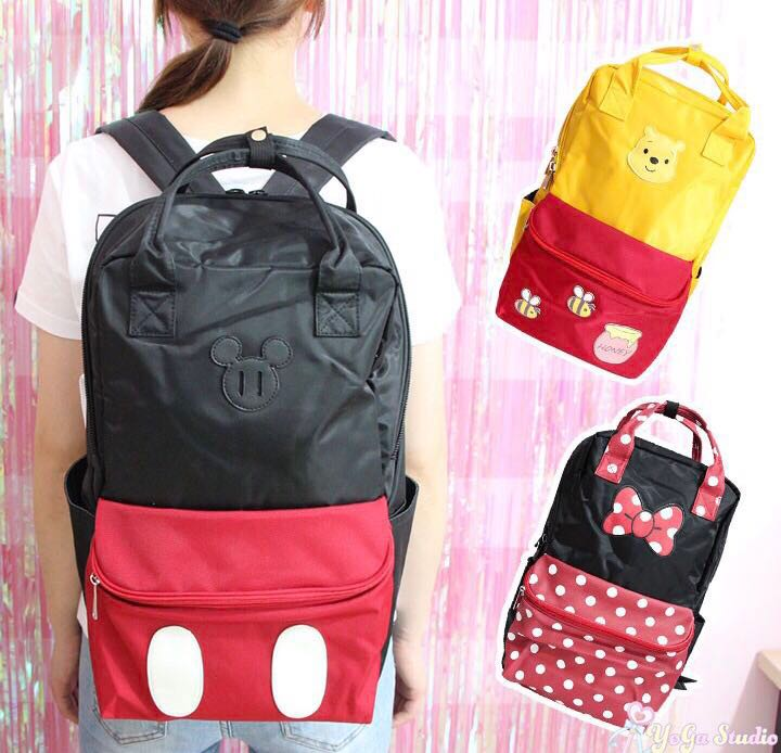 64e8137c66e Mickey and Minnie Mouse , Winnie the Pooh Backpack, Women's Fashion ...