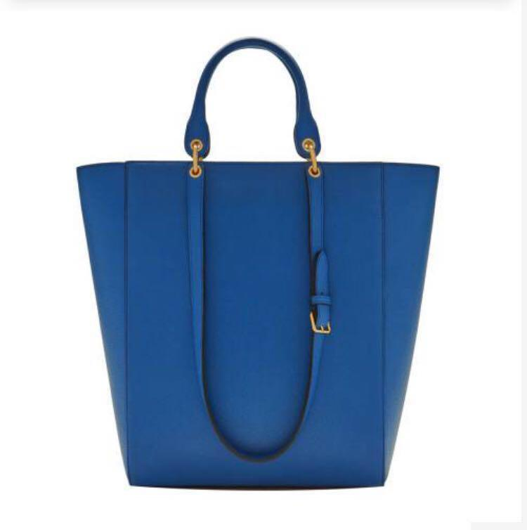 Mulberry Porcelain Blue Maple Small Classic Grain Leather Bag