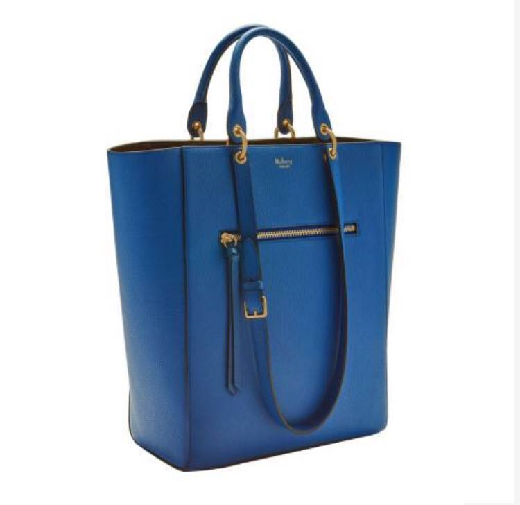 1becf364f909 Mulberry Porcelain Blue Maple Small Classic Grain Leather Bag ...