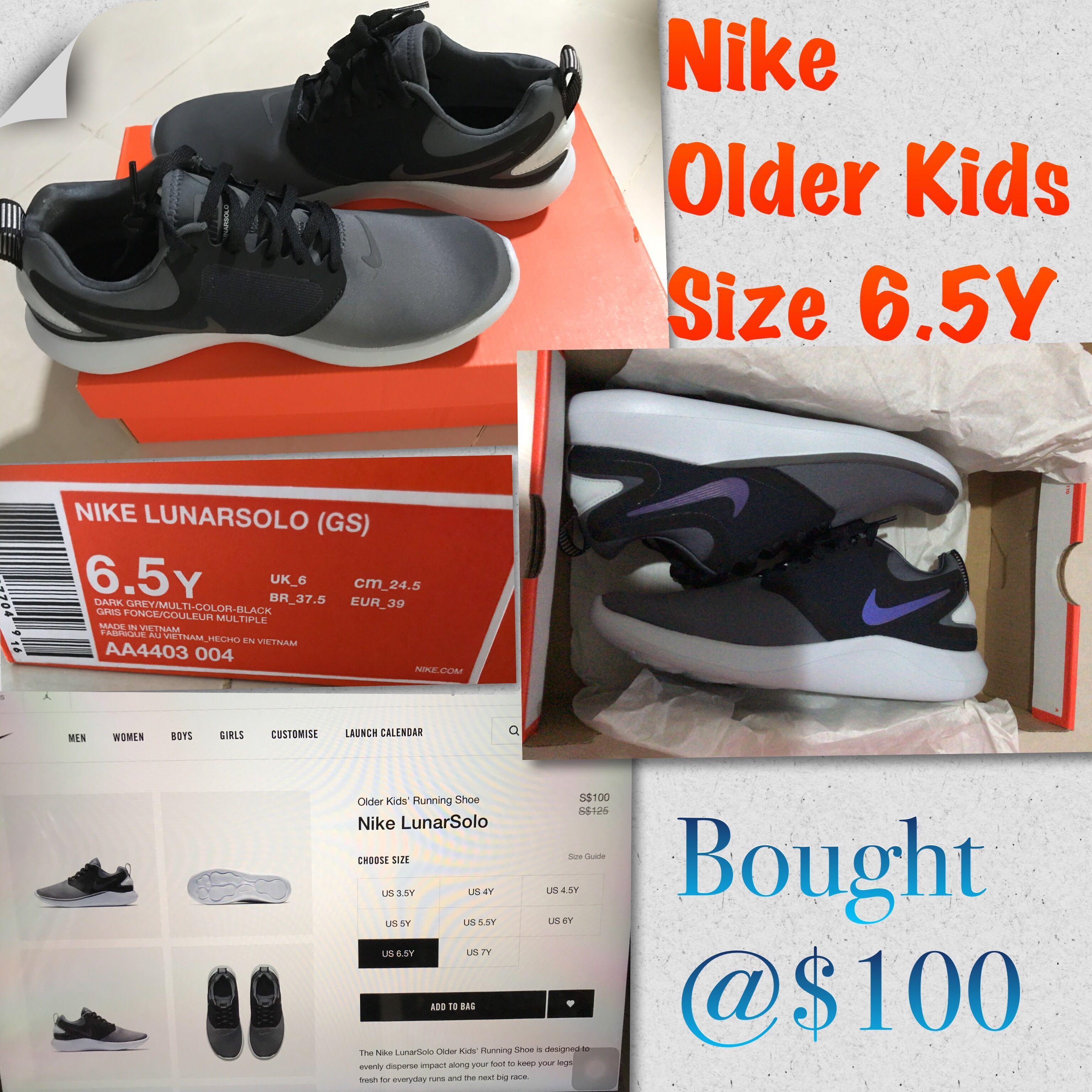 New Nike Older Kids Running Shoes - LunarSolo f1c48f100
