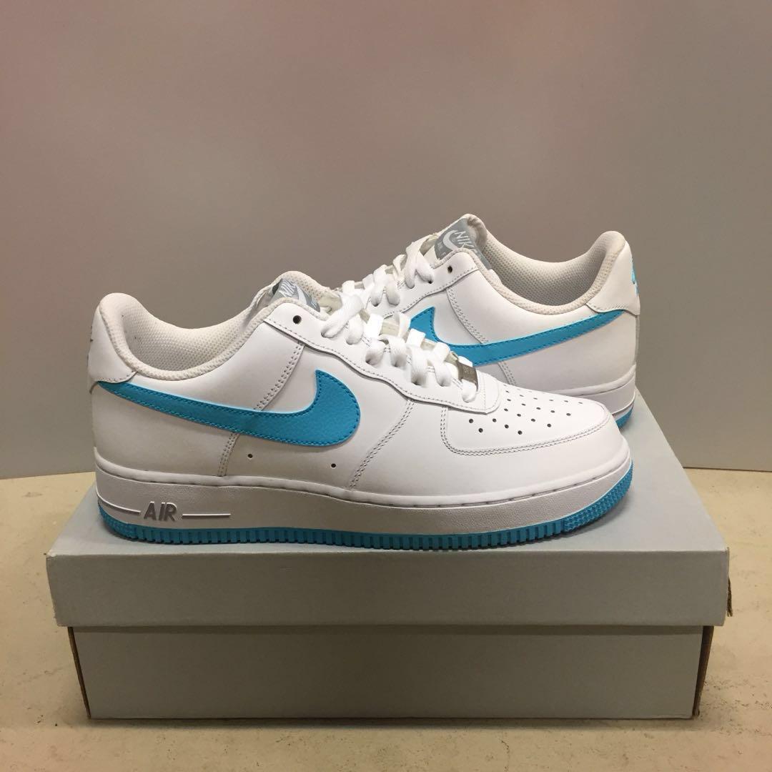 the best attitude 4f6d4 44133 Nike Air Force 1 White Gamma Blue US 8, Men s Fashion, Footwear ...