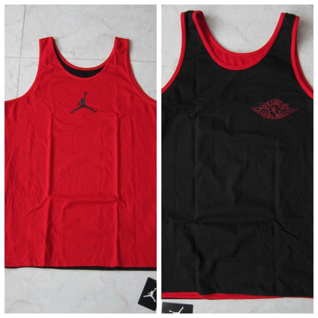6241cca2 Nike Air Jordan Reversible Retro Tank Top Singlet T-Shirt, Men's ...