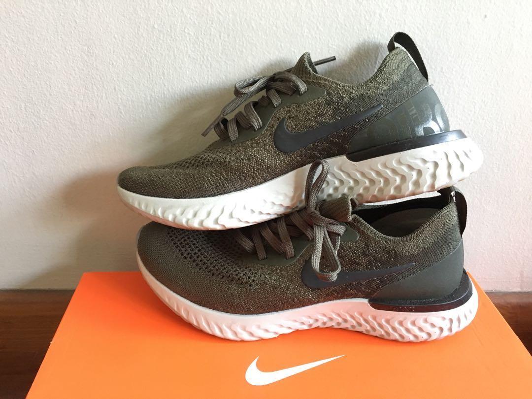 69475e21a44ea Nike Epic React Flyknit Women s (olive) US 7  UK 4.5