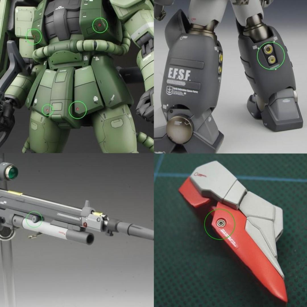 Modeling Upgrade Kits SteelSpirit AW-008B UPGRADED THRUSTER NOZZLES Ⅱ B