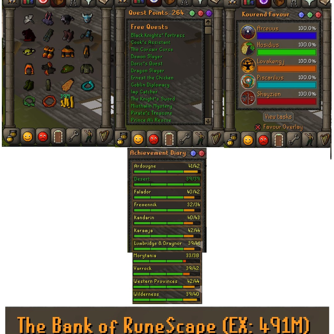 OSRS 2k+ Account with many pets with items