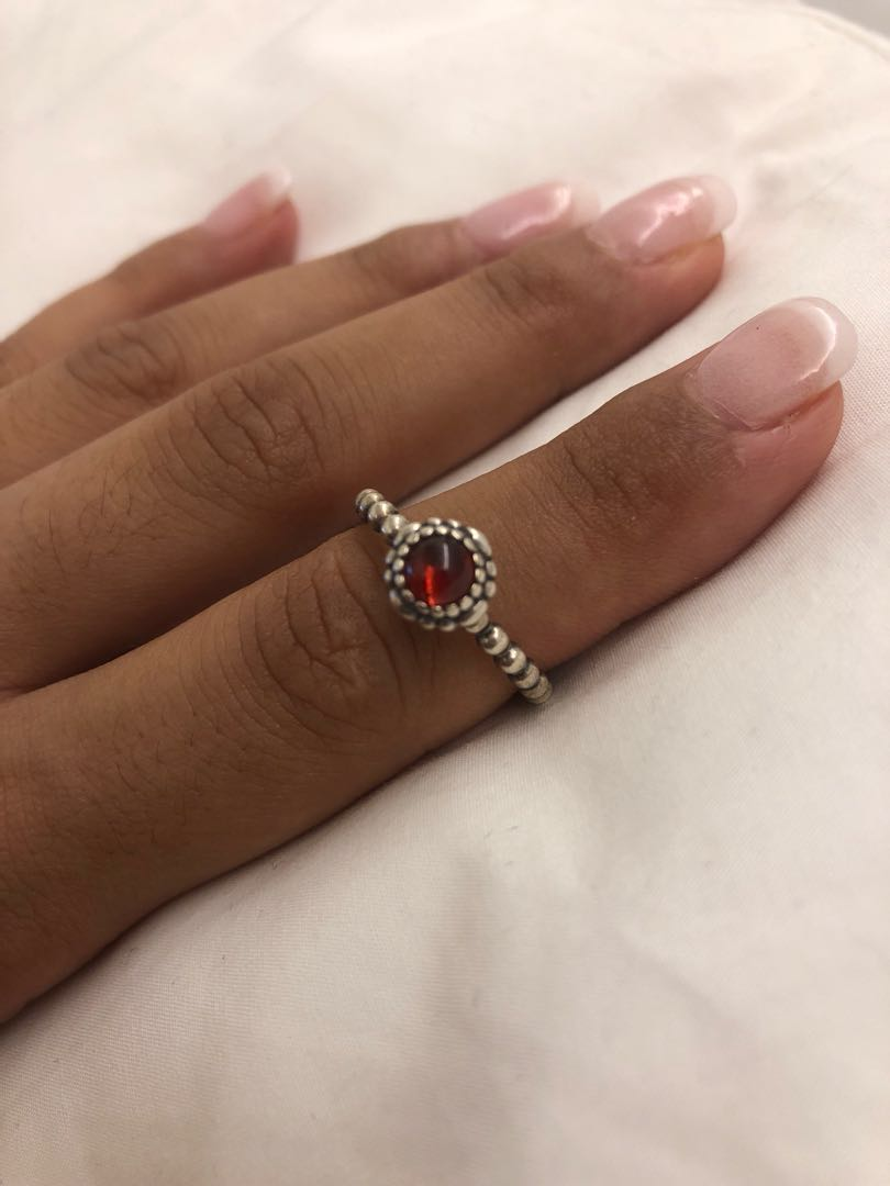 d377cc879 Pandora Garnet January birthstone ring size56, Women's Fashion ...