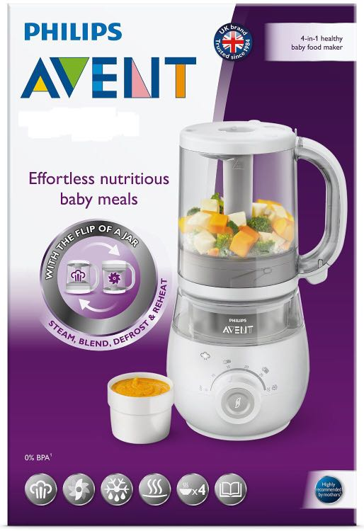 Philips Avent 4 In 1 Baby Food Maker Blender And Steamer