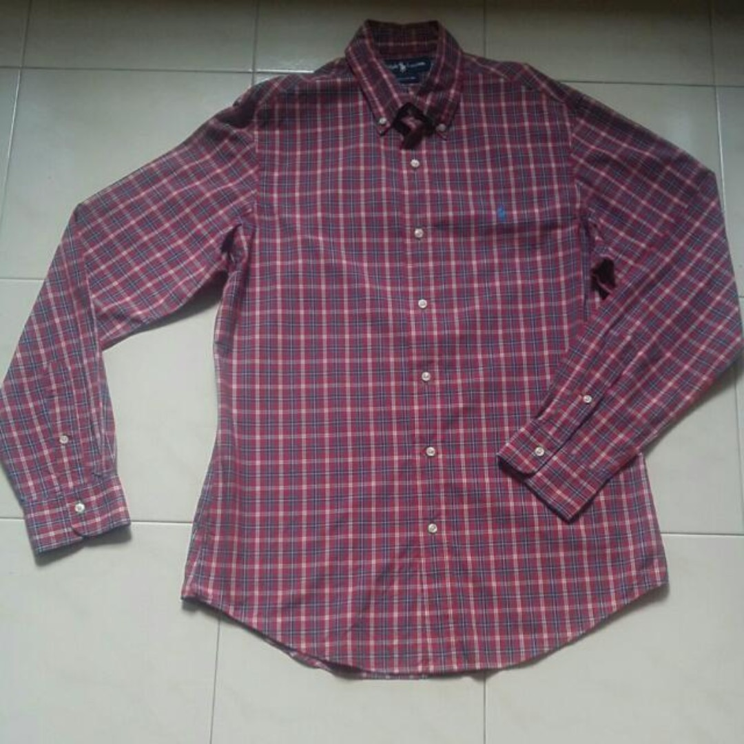 Mens Checker Polo Lauren Smart Ralph Shirt 2WDIeHYE9