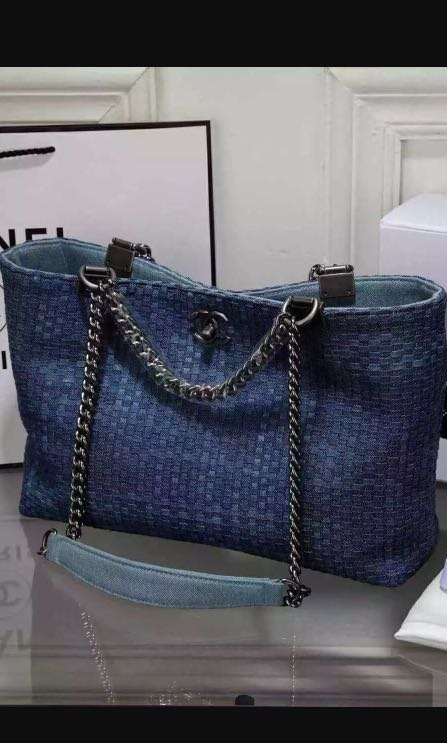 02031c9fd3a644 Pre love NA Chanel tote denim, Luxury, Bags & Wallets on Carousell