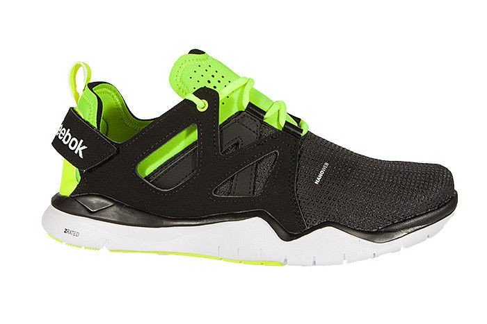 Reebok NanoWeb ZRated neon Green x Black Z cut TR shoe f7b653a96