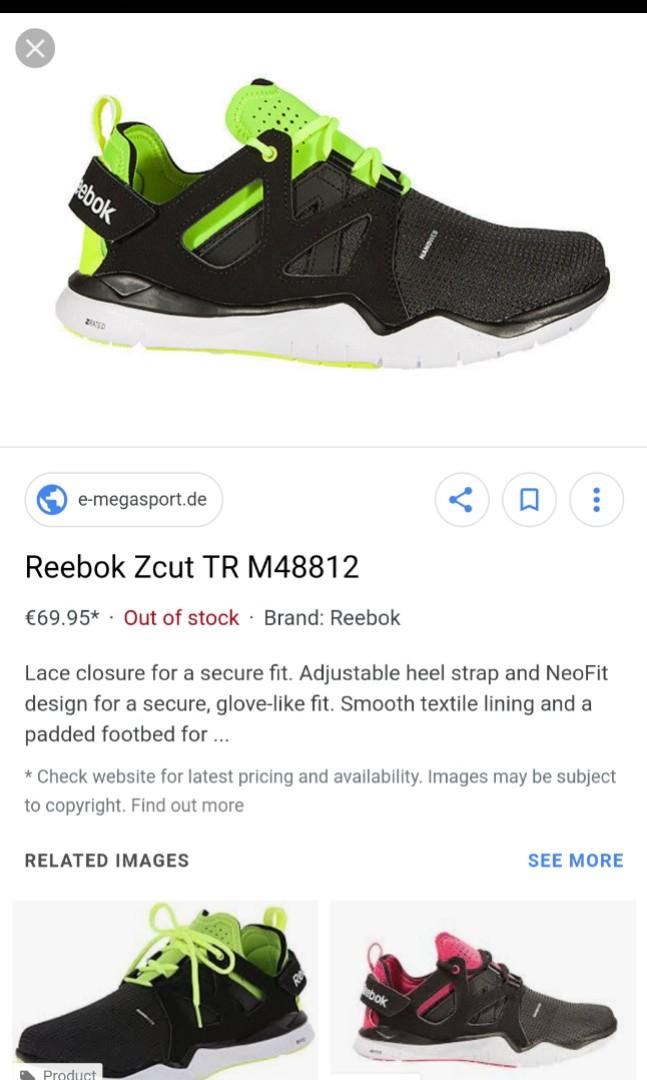 d980a3e1cfc19 Reebok NanoWeb ZRated neon Green x Black Z cut TR shoe