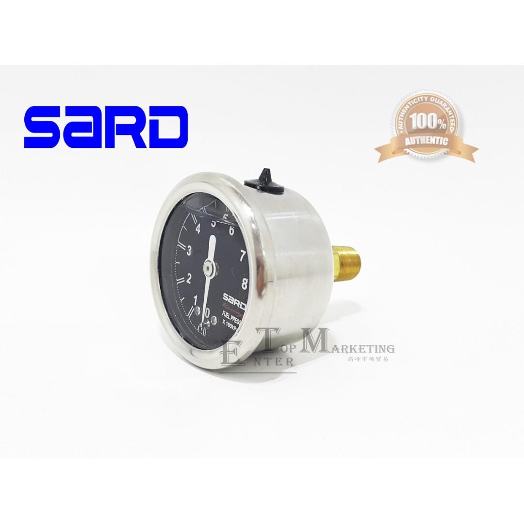 SARD FUEL PRESSURE METER REGULATOR METER 40MM GAUGE OIL-FILLED