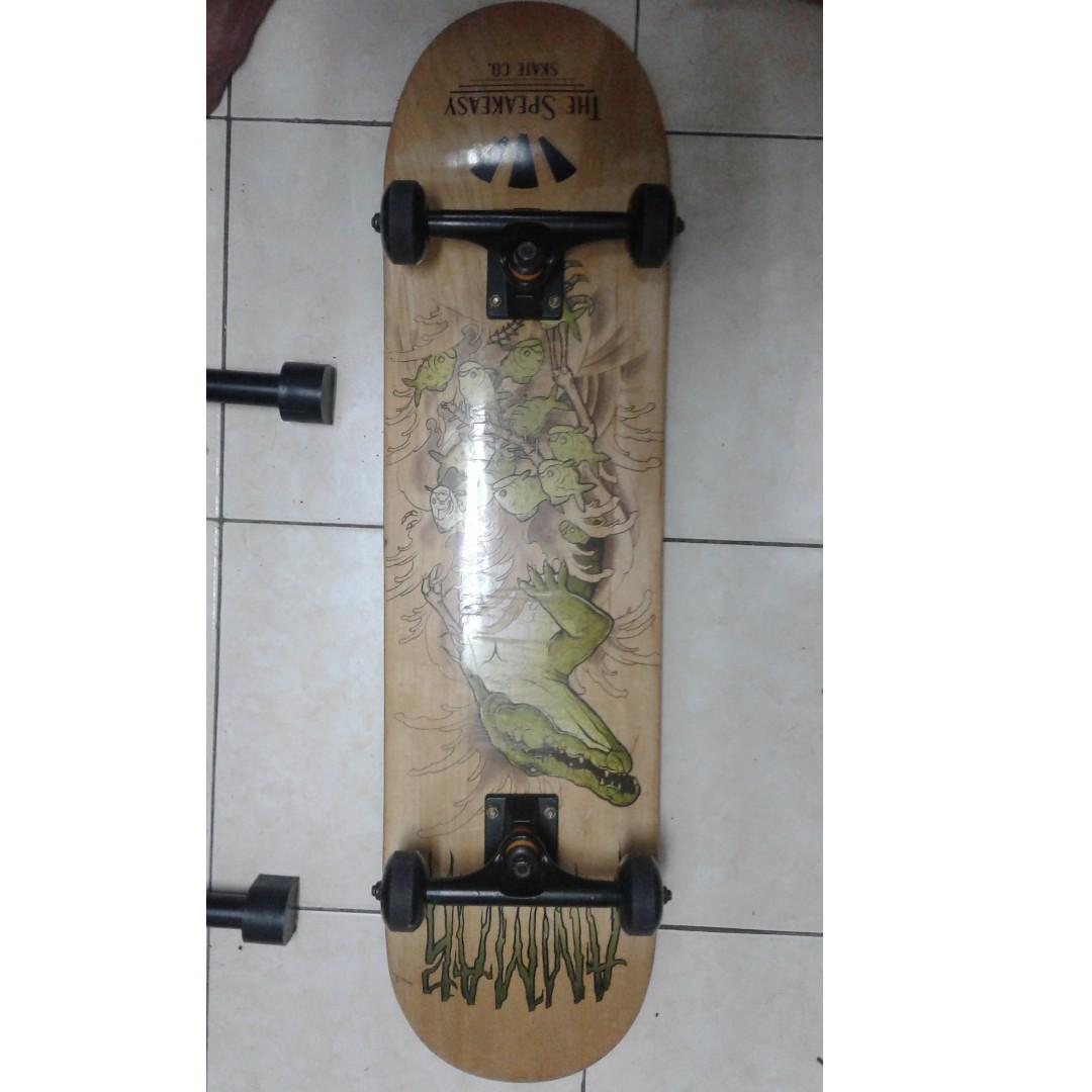 Skateboard Untuk Di Jual Deck 8 Wheel 52mm Harga Blh Murah Ws Sya 0122540528 Sports Scooters Skates On Carousell