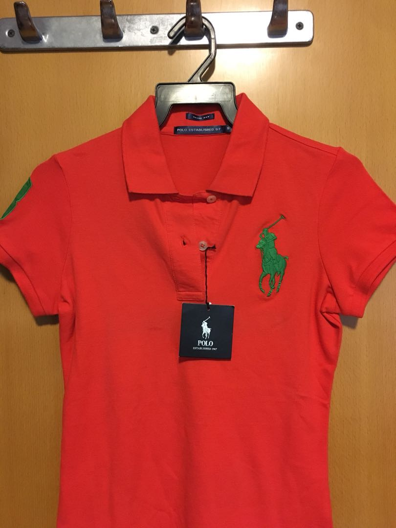 ad1df668 Slim Fit Polo Tee (Women), Women's Fashion, Clothes, Tops on Carousell