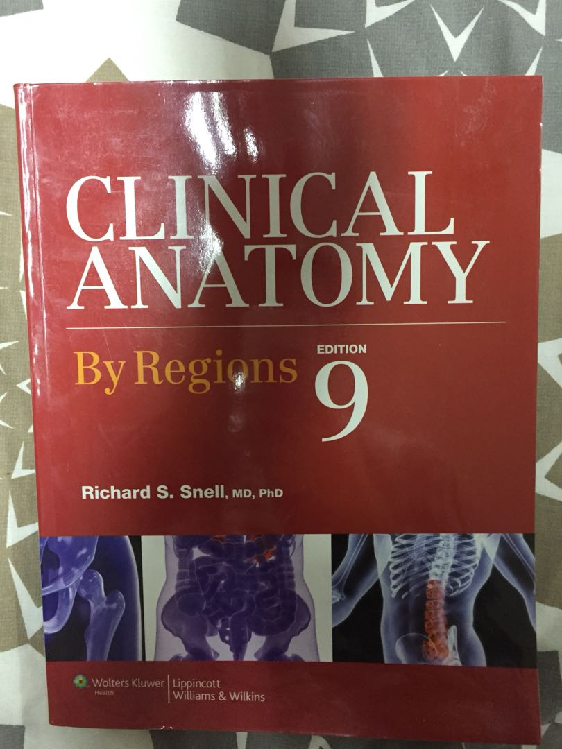 Snell: Clinical Anatomy by Regions 9th Ed., Textbooks on Carousell
