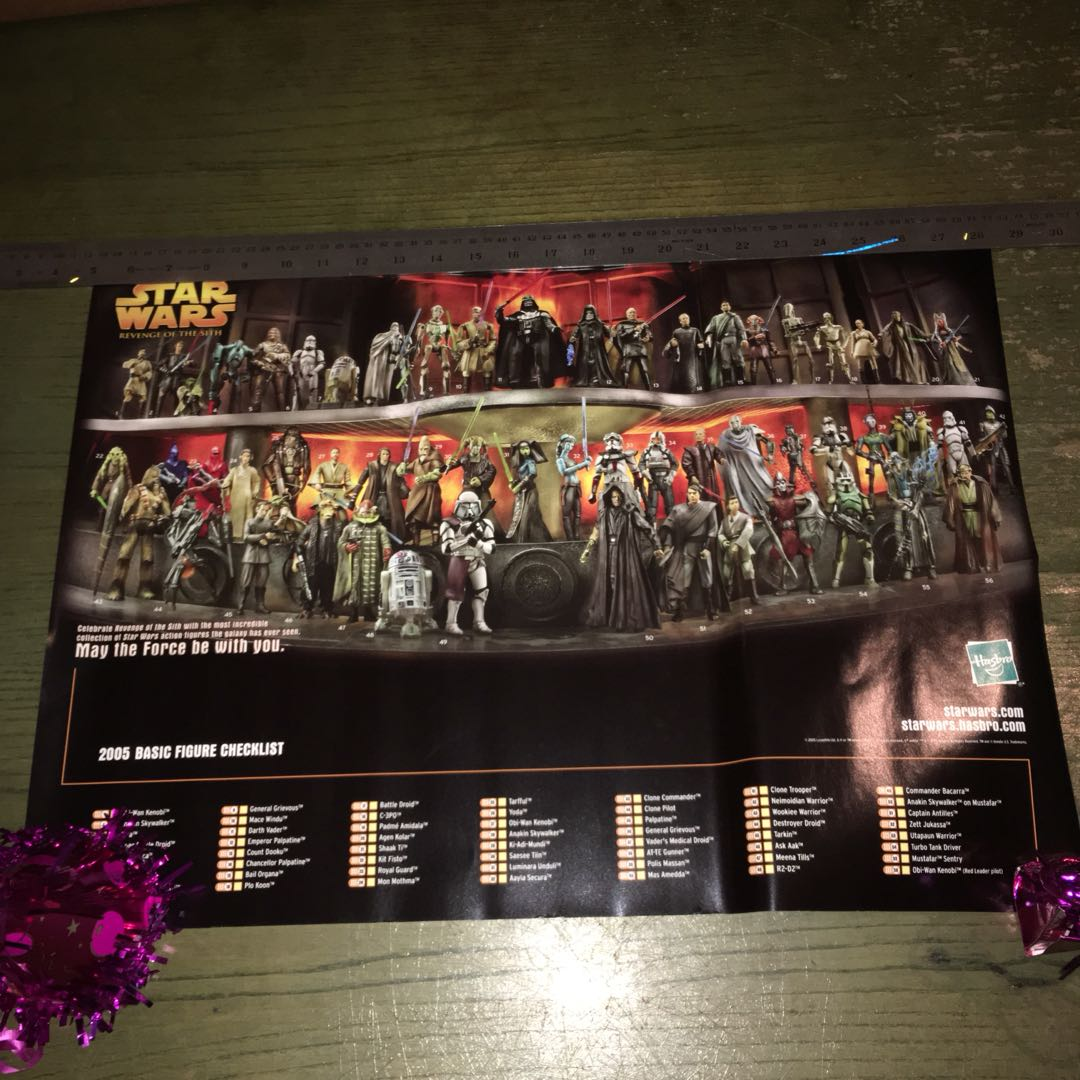 Star Wars Revenge Of The Sith Hasbro Catalogue Poster Toys Games Bricks Figurines On Carousell