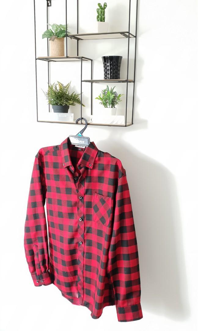 Travis Scott Inspired Plaid Shirt