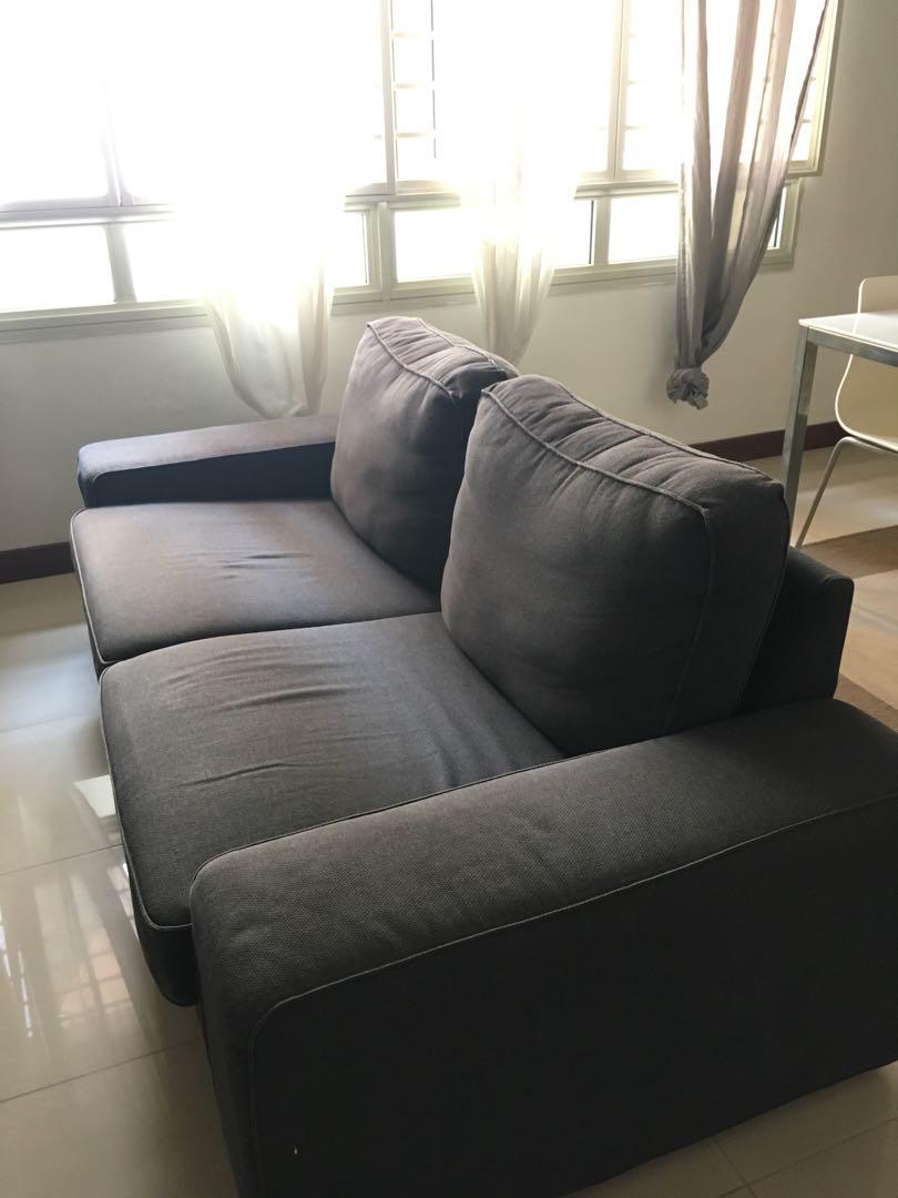 Two Seat Sofa Ikea Kivik Sofa Furniture Sofas On Carousell